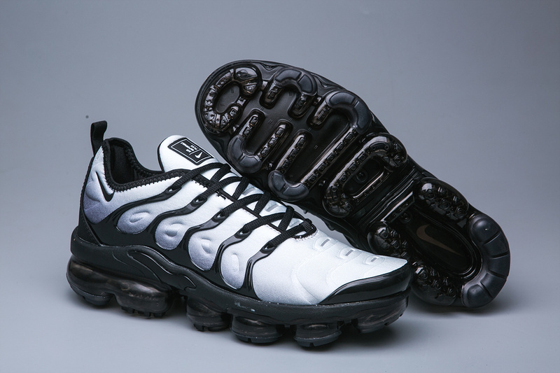 new york 8de8f 2fba7 Nike Air VaporMax Plus TN Grey White Black Men's Running Shoes NIKE-ST005069