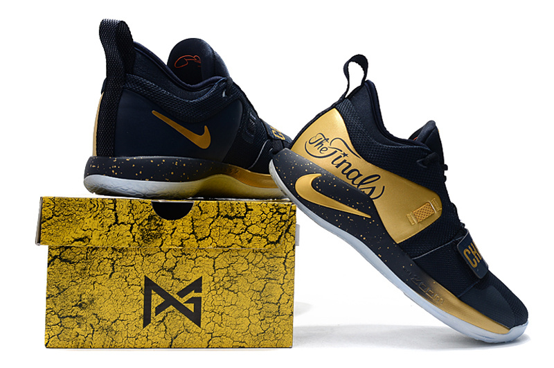 more photos caac0 b10d3 Nike PG 2. 5 Sony PlayStation Navy Blue Gold Men's Basketball Shoes  NIKE-ST004940