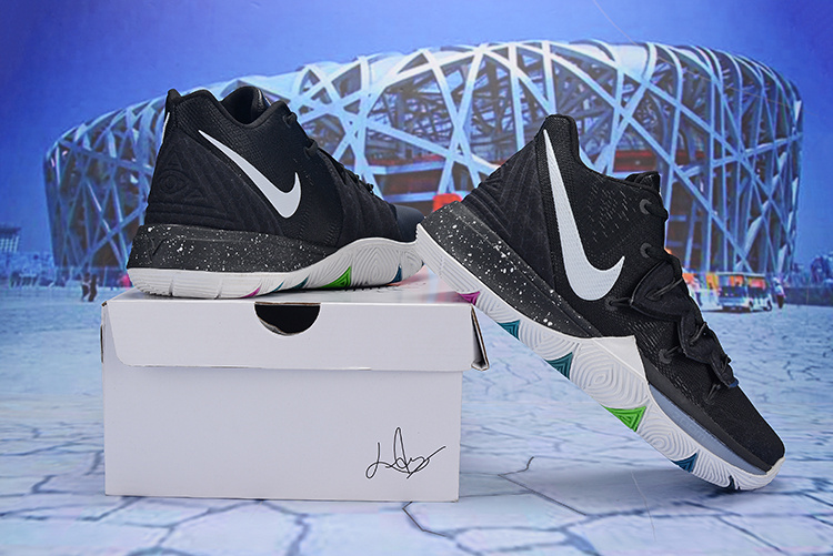 ffd3f22d13fce6 Nike Kyrie 5 Black Magic Multi AO2918-901 Men s Basketball Shoes ...
