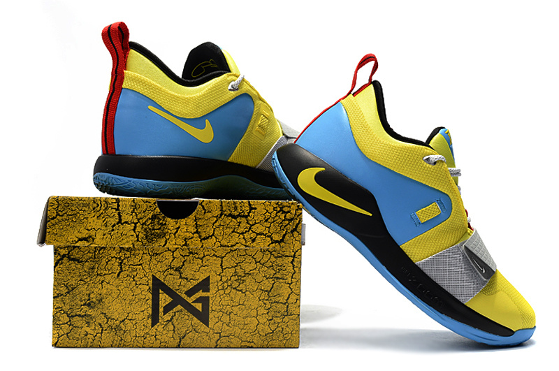 6ea1ef0354a Nike PG 2. 5 Sony PlayStation Yellow Blue Black Red Men s Basketball ...