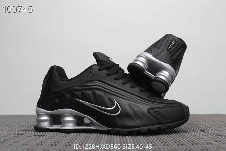 ... Nike Shox Running Shoes›. Nike Shox R4 Black Silver Men s ... 531ca4b1b