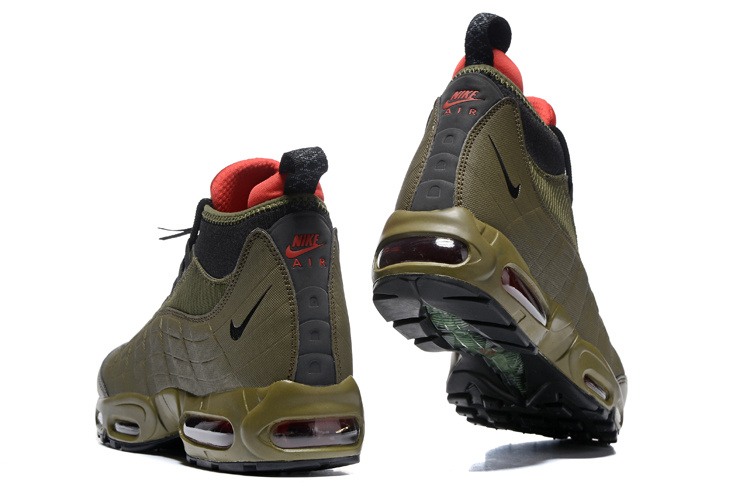 b705bc88fe1 Nike Air Max 95 Winter Sneakerboot Dark Loden Olive Green 806809 300 Men s  Snow Boots Sneakers