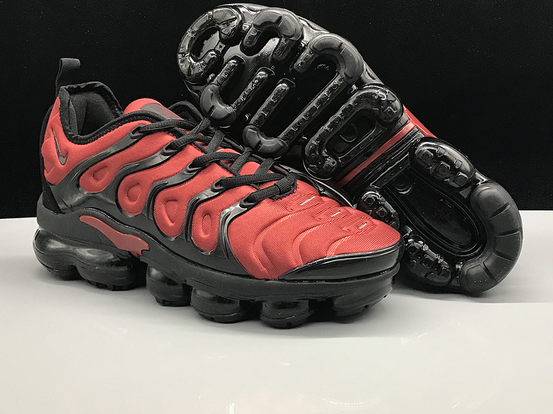 online retailer 409fc 7ca3f Nike Air Vapormax Plus TN October Red Black Men's Women's Running Shoes  NIKE-ST005202