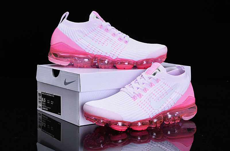 info for 74ece ef0e7 Nike Air Vapormax Flyknit 2019 White Pink AJ6900-005 Women's Running Shoes  AJ6900-005