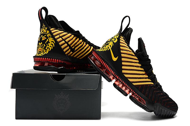 huge discount bf0b0 9a3cd Nike LeBron 16 Men's Basketball Shoes King Black Gold Red NIKE-ST004942