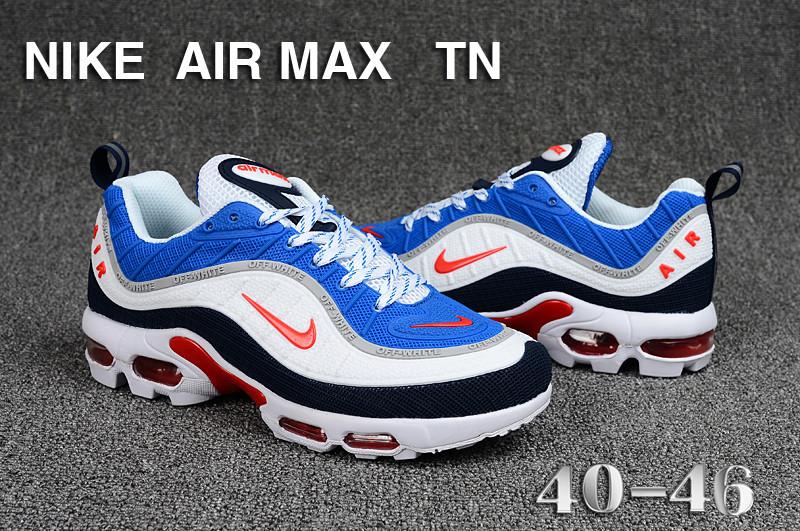 the latest 2a87d ca670 Mens Nike Air Max Tn KPU Royal Blue White Orange Black Running Shoes  NIKE-ST005253