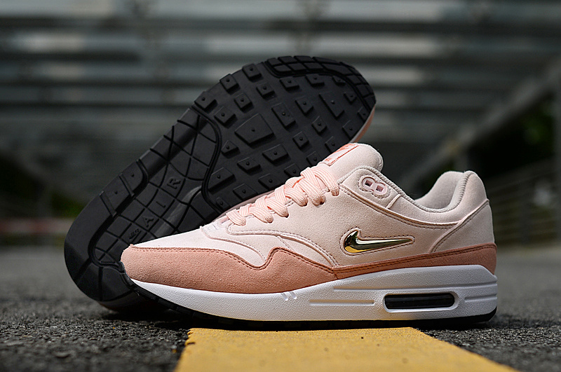 Nike Air Max 87 Rose Pink White Gold Women's Casual Shoes Sneakers NIKE ST004957