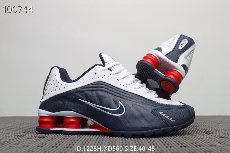 wholesale dealer b190f 7d1cd Nike Shox R4 Navy Blue Red ...