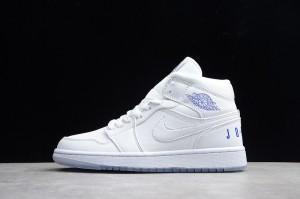 68b0fbb0a87763 Nike Air Jordan 1 Retro Mid Pure White BQ6578-100 Mens Athletic Basketball  Shoes