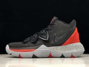2ff4e242714 Nike Kyrie 5 Black red gray ink AO2919-600 Men s Basketball Shoes