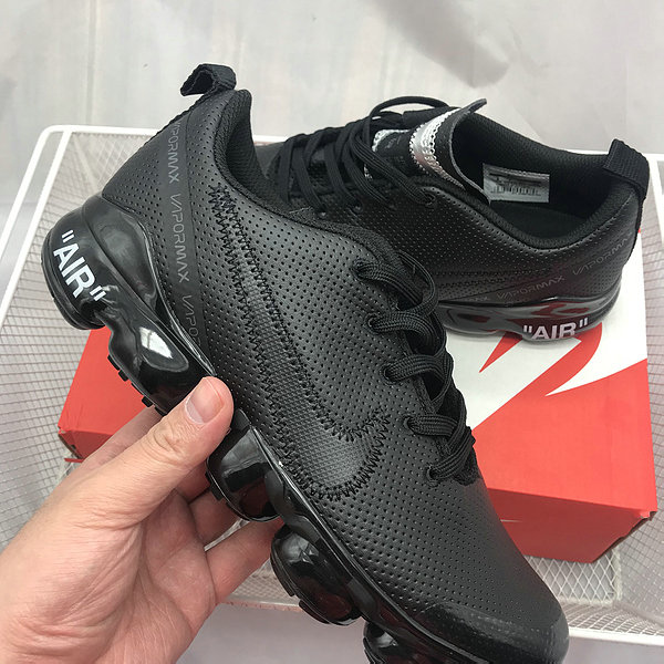 pretty nice d37fc 522d8 Nike Air Max 2019 Leather Triple Black Men's Running Shoes NIKE-ST005352