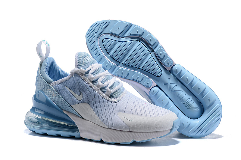 hot sale online 3a631 98995 Nike Air Max 270 Flyknit White Blue Men's Casual Shoes NIKE-ST005355