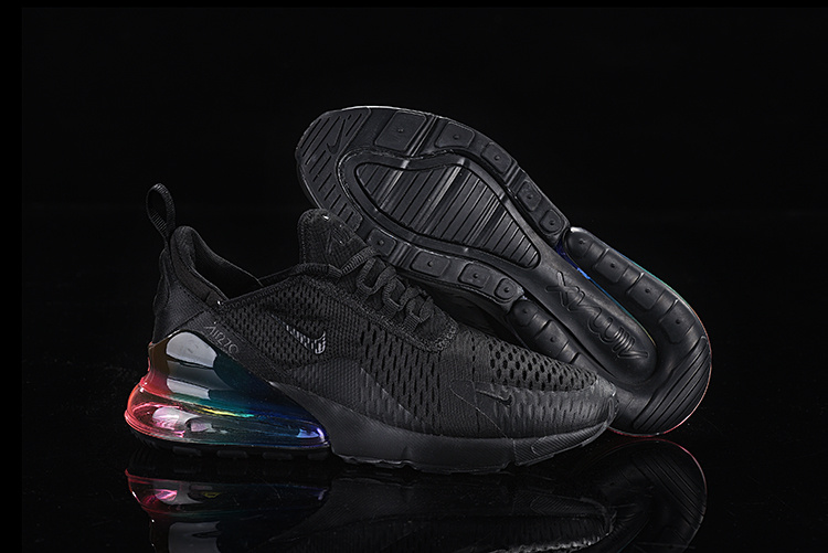 reputable site 14d72 bef20 Nike Air Max 270 Flyknit Triple Black Multi-Color Men's Casual Shoes  NIKE-ST005369