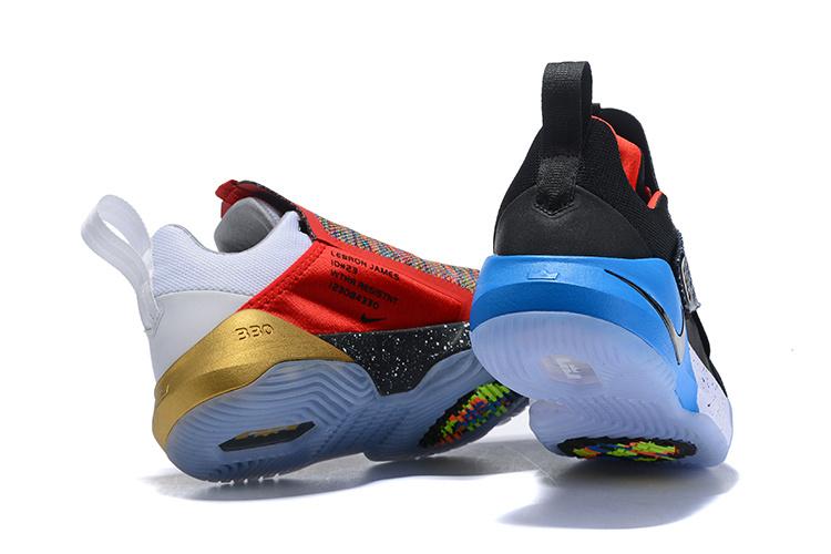 wholesale dealer a8495 f7ad3 Nike Ambassador X 10 Lebron James White Black Bule Men's Basketball Shoes  NIKE-ST005475