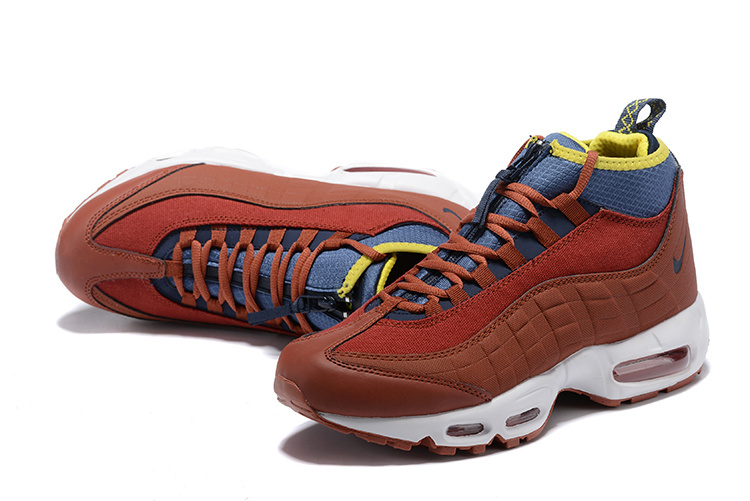 new arrival 86d6a 52c85 Nike Air Max 95 Sneakerboots Dark Russet/Light Bone/Yellow Ochre/Thunder  Blue 806809 204 Men's Snow Boots Sneakers 806809-204