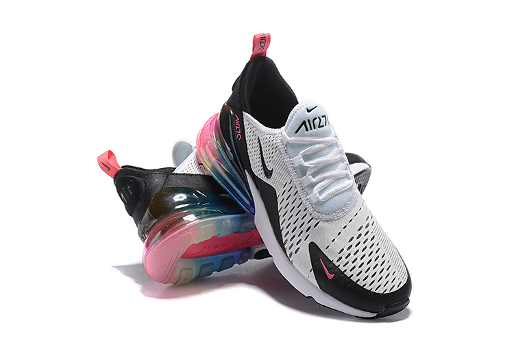 Nike Air Max 270 Flyknit White Black Multi Color Women S Men S Casual Shoes Nike St005360