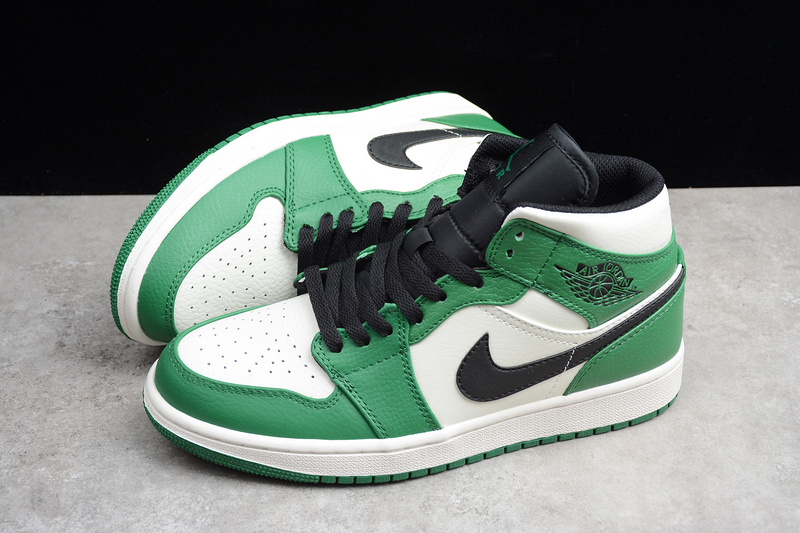32dd74bc55d Nike Air Jordan 1 Retro Mid Pine Green 852542-301 Mens Athletic Basketball  Shoes