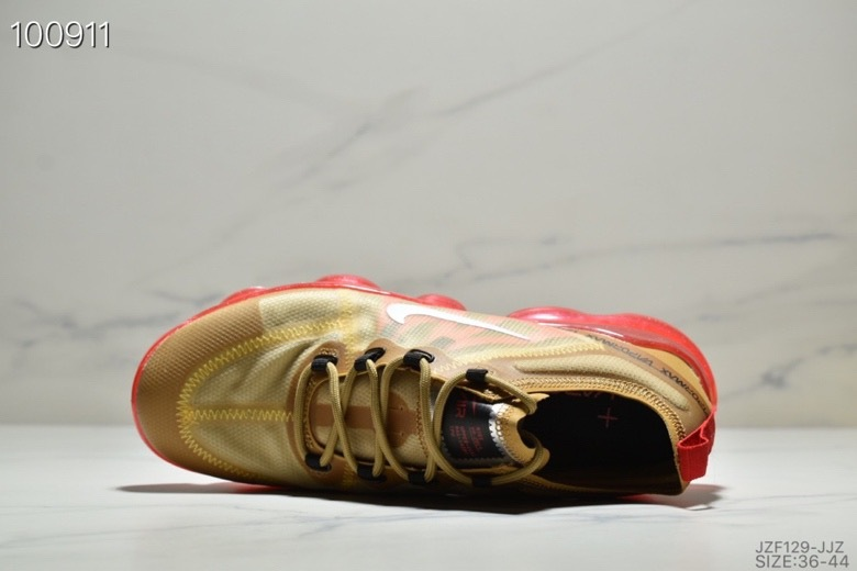 d18005ad627 Nike Air VaporMax 2019 Gold Red AR6631-701 Men s Running Shoes ...