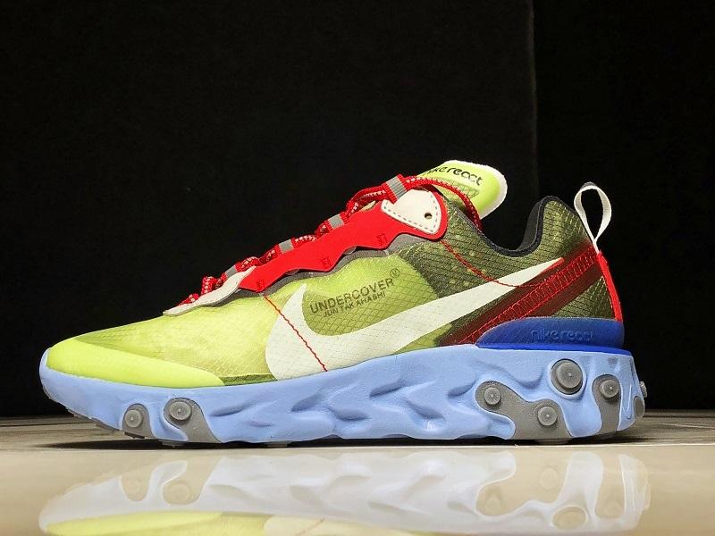 premium selection 3e9d8 984a3 Nike React Element 87 Undercover Volt BQ2718-700 Women Men s Casual Shoes  Sneakers