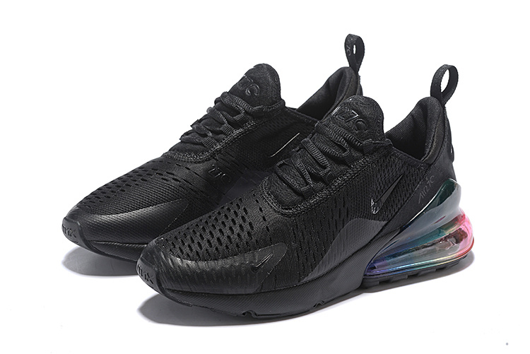 Nike Air Max 270 Flyknit Triple Black Multi Color Men's Casual Shoes NIKE ST005369