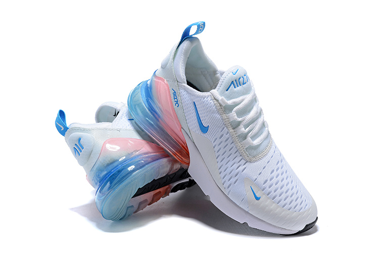 best authentic b8c8c d4854 Nike Air Max 270 Flyknit White Blue Multi-Color Women's Casual Shoes  NIKE-ST005364