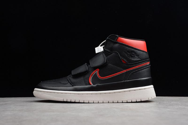 0ab720bb0b9a79 Nike Air Jordan 1 Retro High Double Strap Black Red AQ7924-106 Mens  Athletic Basketball