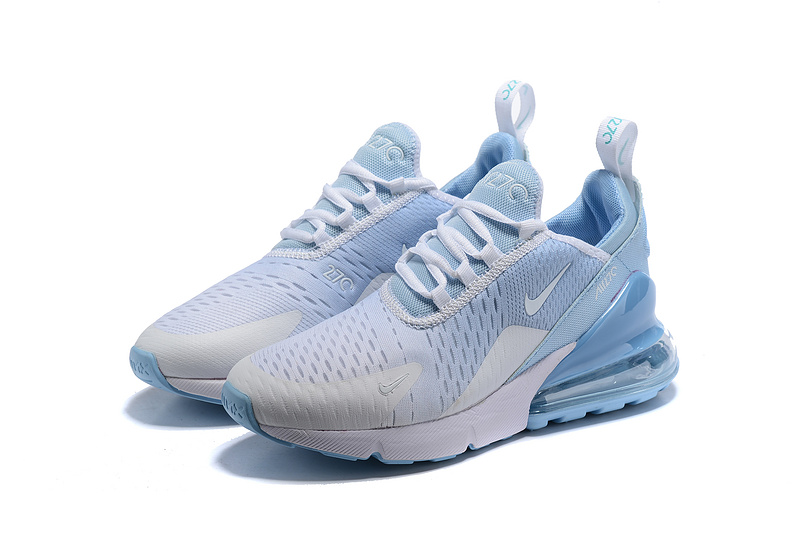 hot sale online 17c22 dc4da Nike Air Max 270 Flyknit White Blue Men's Casual Shoes NIKE-ST005355