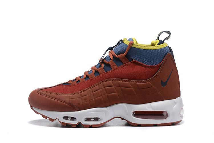 c44798209a9 Nike Air Max 95 Sneakerboots Dark Russet/Light Bone/Yellow Ochre/Thunder  Blue