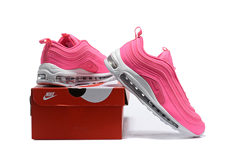 40f8ce3d3012c Nike Air Max 97 Premium Pink White Women's Casual Shoes NIKE ...