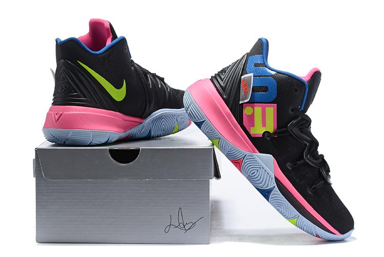 06f68448d21b Nike Kyrie 5 Black Pink Multi-Color Men s Basketball Shoes NIKE ...