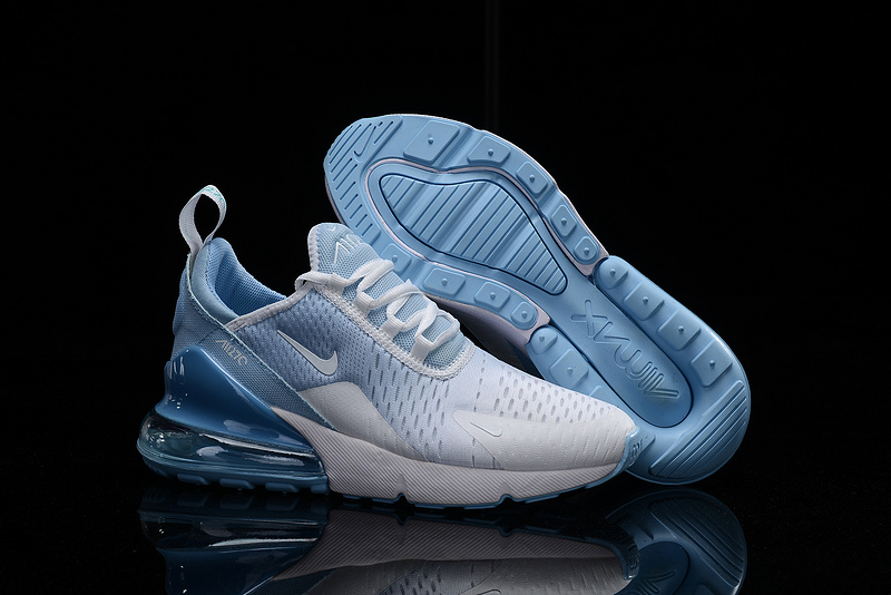 hot sale online 3eb33 99638 Nike Air Max 270 Flyknit White Blue Men's Casual Shoes NIKE-ST005355