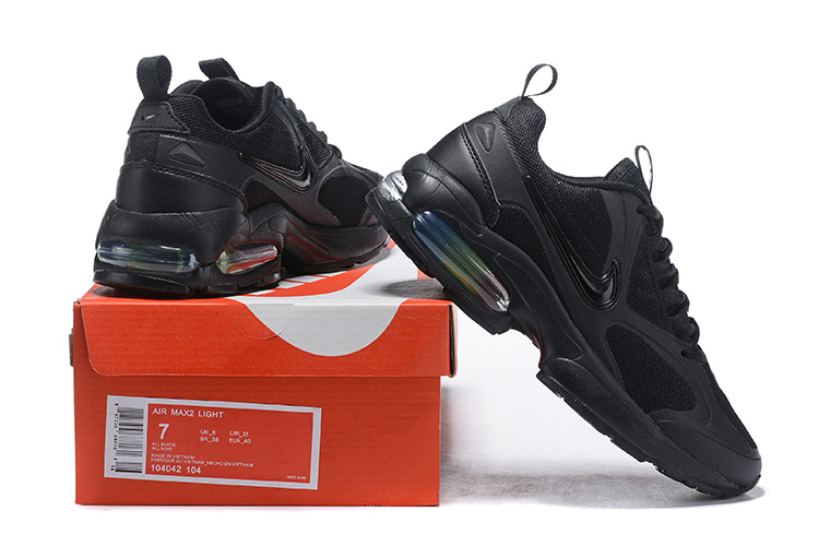cb31dcfe886159 Men s Nike Air Max2 Light Triple Black 104042 104 Casual Shoes ...