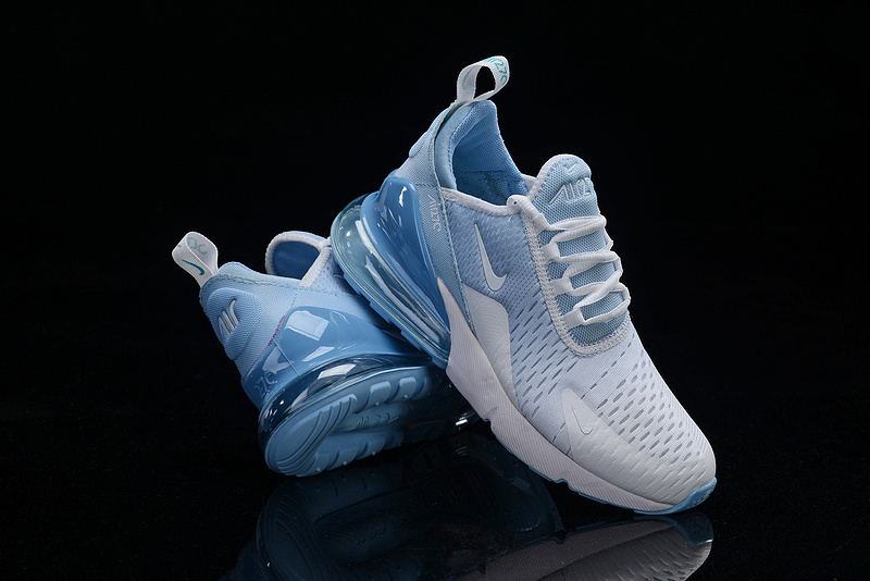 hot sale online 605b9 acd5d Nike Air Max 270 Flyknit White Blue Men's Casual Shoes NIKE-ST005355
