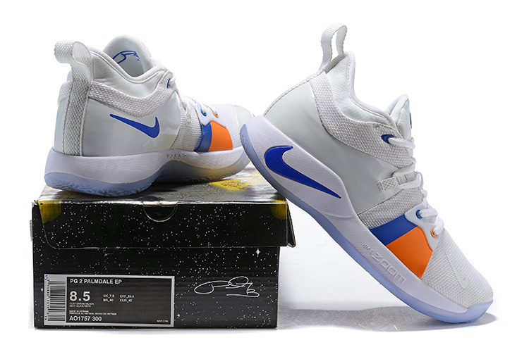 promo code 1f85b 6f392 NIKE PG 2 Paul George White Ice Men s Basketball Shoes NIKE-ST005430    WithTheSale.com