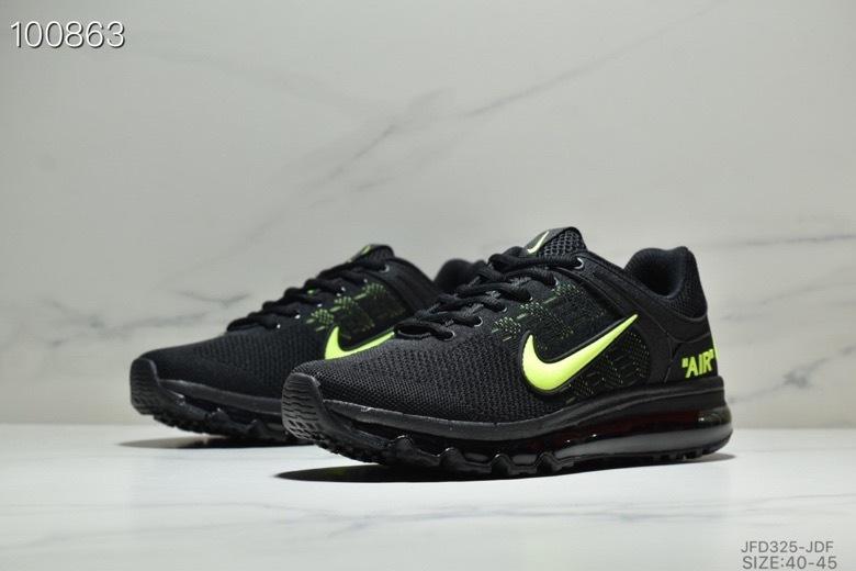 online store dc6b9 32bff Nike Air Max 2019 Black Green Men's Running Shoes NIKE-ST005420