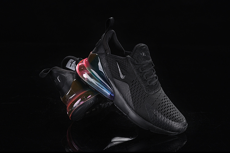 reputable site 47e78 7028c Nike Air Max 270 Flyknit Triple Black Multi-Color Men's Casual Shoes  NIKE-ST005369