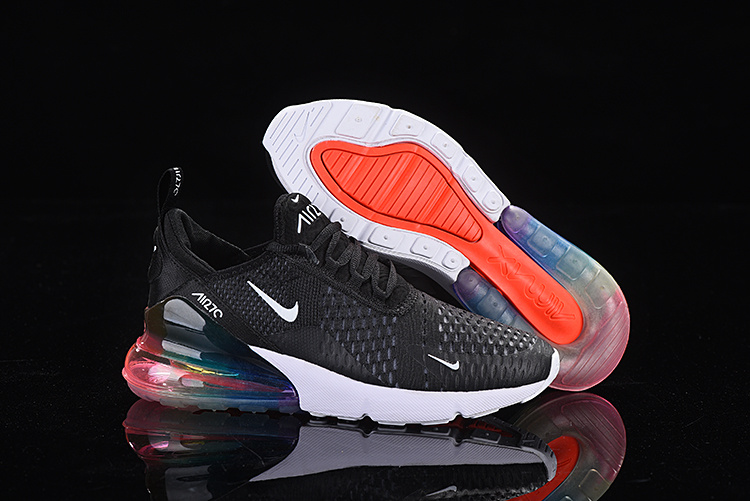 newest d1cf9 32a47 Nike Air Max 270 Flyknit Black White Multi-Color Men's Casual Shoes  NIKE-ST005366