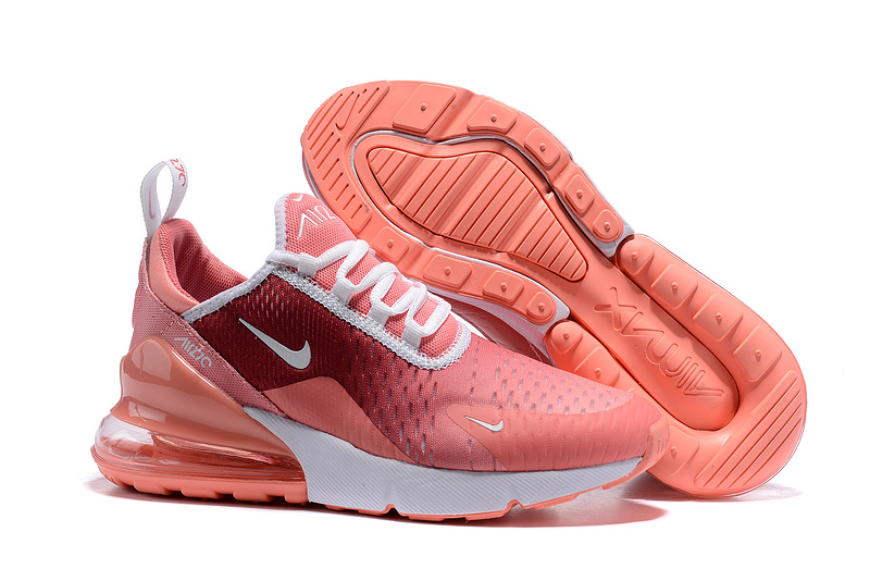 ffcec0b58 Nike Air Max 270 Flyknit White Burgundy Pink Women s Casual Shoes ...