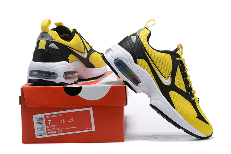5c551fa7ea5f Men s Nike Air Max2 Light Yellow Black White 104042 108 Casual Shoes ...