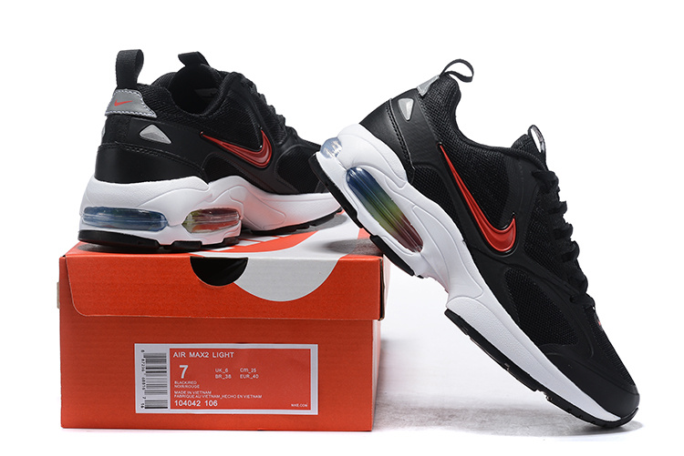 dac36ff7b6a Men s Nike Air Max2 Light Black Red White 104042 106 Casual Shoes ...