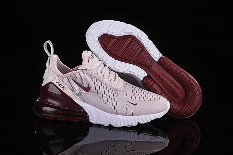 sports shoes 1adc2 08f57 Nike Air Max 270 Flyknit Pink White Burgundy Women's Casual Shoes  NIKE-ST005365