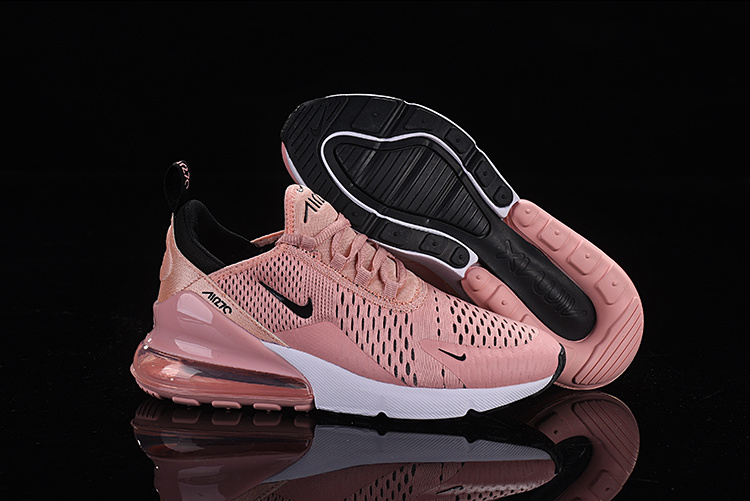 new style bc337 489b3 Nike Air Max 270 Flyknit Pink White Black Women's Casual Shoes NIKE-ST005361