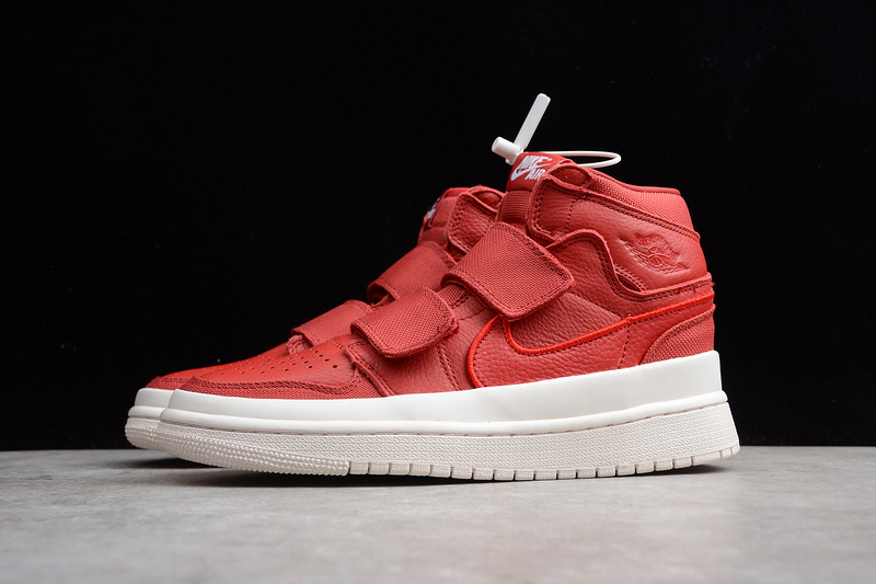01f92847b26 Nike Air Jordan 1 Retro High Double Strap Red White AQ7924-601 Mens  Athletic Basketball
