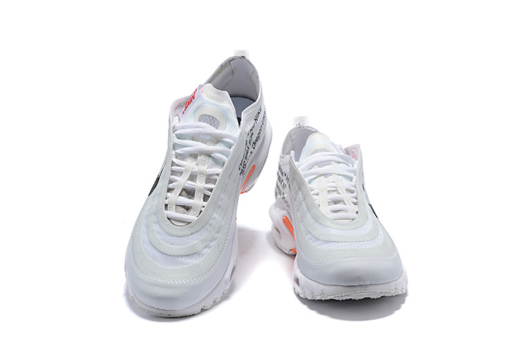 Mens Off White Nike Air Max TN White Black Total Orange Males Running Shoes NIKE ST005311