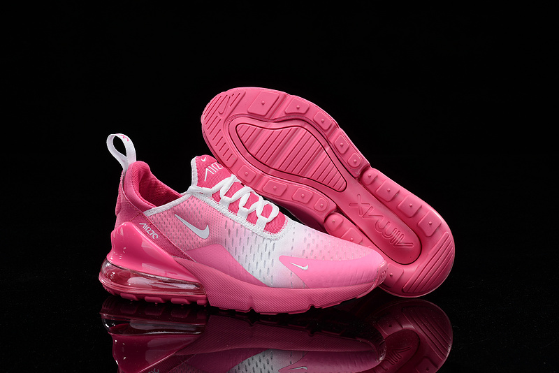 Nike Air Max 270 Flyknit Spectrum Rose White Women's Casual Shoes NIKE ST005359