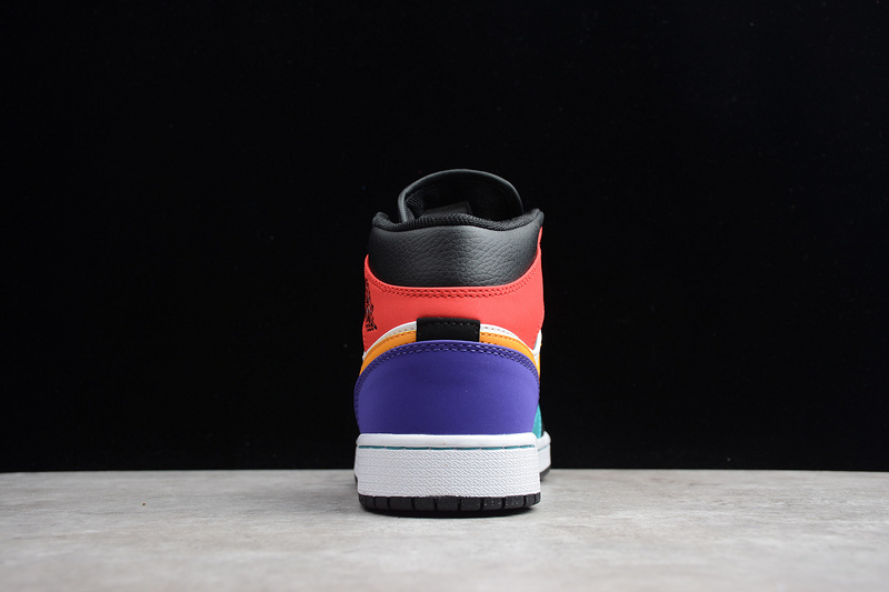 b90e84c07a5c Nike Air Jordan 1 Retro Mid Multi-Color 554724-125 Mens Athletic Basketball  Shoes