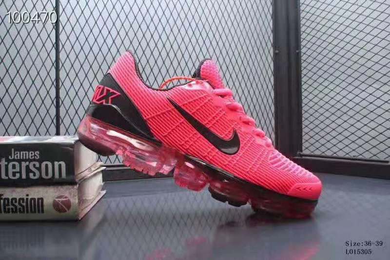 half off 0a7cc 52552 Nike Air VaporMax 2019 KPU Black Pink Women's Running Shoes NIKE-ST005590