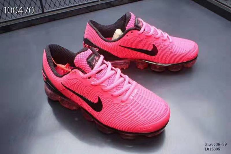 ce1886a856 Nike Air VaporMax 2019 KPU Black Pink Women's Running Shoes NIKE ...