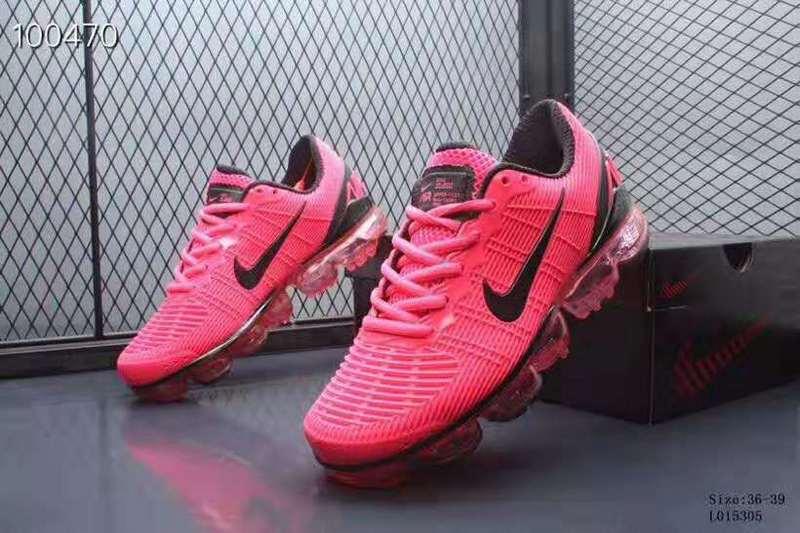 half off 64771 950a0 Nike Air VaporMax 2019 KPU Black Pink Women's Running Shoes NIKE-ST005590