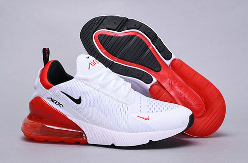 separation shoes efe96 cb7b7 Nike Air Max 270 Flyknit White University Red BV2523-100 Women's Men's  Casual Shoes bv2523-100